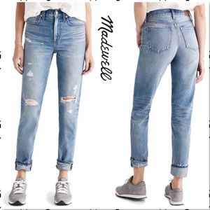 Madewell Perfect Vintage Jean Chet Distressed Wash